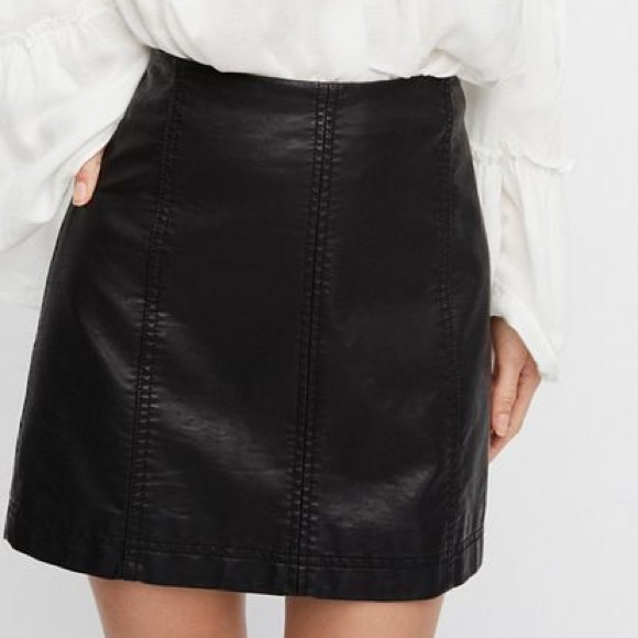 7a83224ad9 Free People Dresses & Skirts - Free People Modern Femme Faux Leather Mini  Skirt